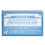 Dr. Bronner´s Baby Mild Pure Castile Oranic Bar Soap 140 gr - lõhnatu orgaaniline tükiseep beebidele