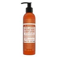 Dr. Bronner´s Orange Lavender Organic Hand&Body Lotion 240 ml orgaaniline käte- ja kehapiim, apelsin-lavendel