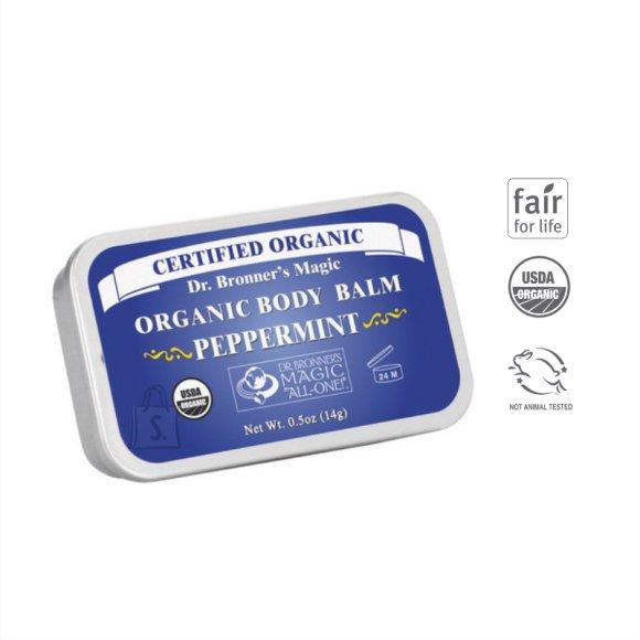 Dr. Bronner´s Peppermint Organic Body Balm 14 gr orgaaniline kehavõie, piparmünt
