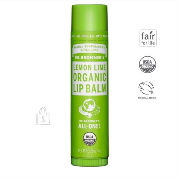 Dr. Bronner´s Lemon Lime Organic Lip Balm 4 g orgaaniline huulepalsam, sidrun-laim