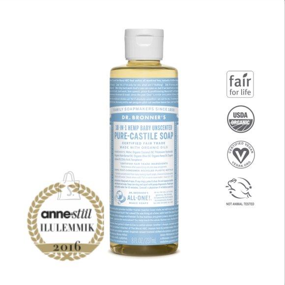 Dr. Bronner´s Baby Mild Pure Castile Soap - lõhnatu vedelseep