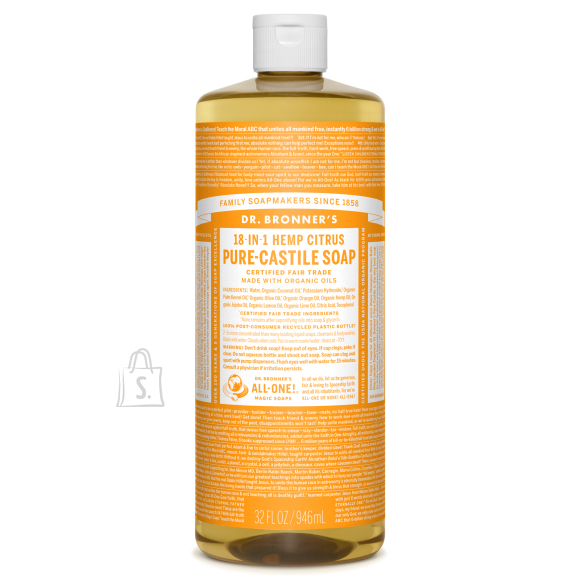 Citrus Orange Pure Castile Organic Soap, tsitrus-apelsin 945 ml