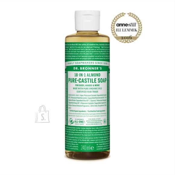 Dr. Bronner´s Almond Pure Castile Organic Soap 240 ml - mandlilõhnaline orgaaniline vedelseep