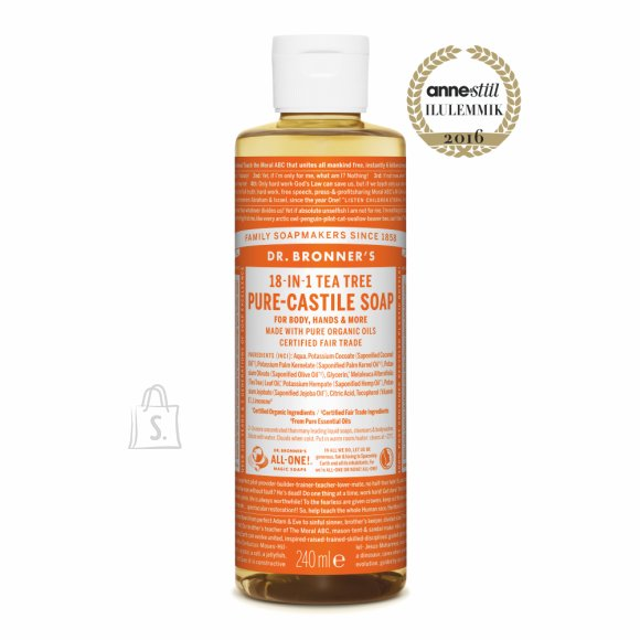 Dr. Bronner´s Tea Tree Pure Organic Liquid Soap, teepuuõli