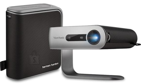 "ViewSonic Viewsonic LED mobile projector M1+ WiFi, BT, 300 lumens, 120,000:1, 100"", Auto V.Keystone, 1.2x, Harman Kardon 3w speaker, Built in battery"