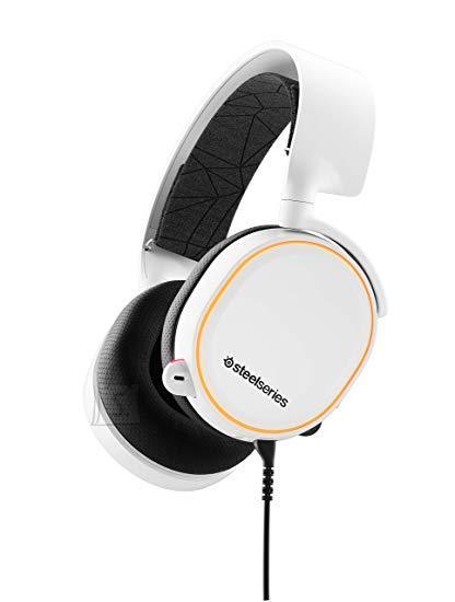 SteelSeries Mänguri kõrvaklapid Arctis 5 White (2019 Edition), RGB, 7.1