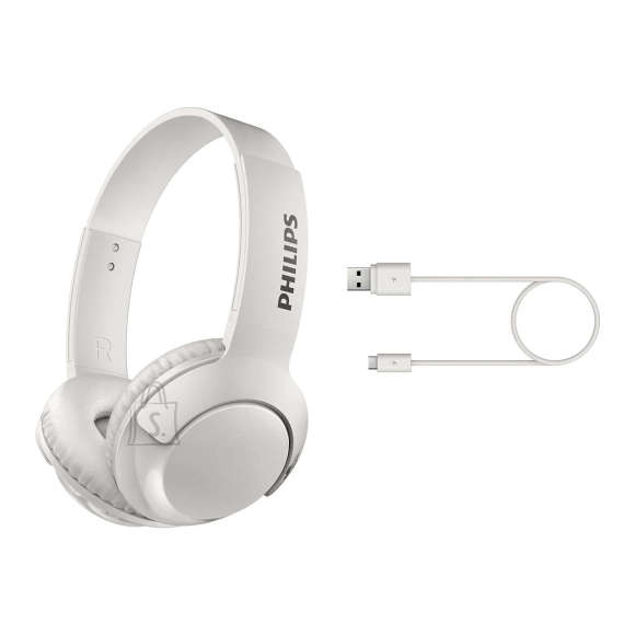 Philips Philips BASS+ Wireless On Ear kõrvaklapid with mic SHB3075WT/00