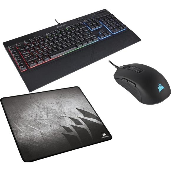 Corsair Corsair Gaming Bundle: Keyboard K55 RGB / Mouse M55 RGB Pro / mouse Pad MM300 Medium