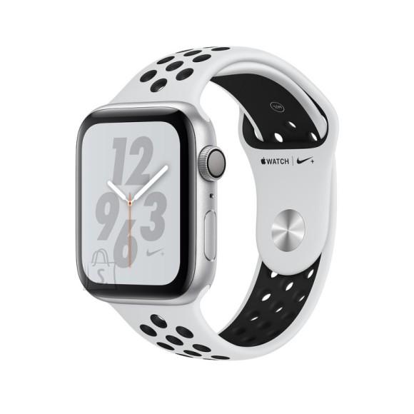 Apple Apple Watch Nike+ Series 4 GPS, 40mm Silver Aluminium Case with Pure Platinum/Black