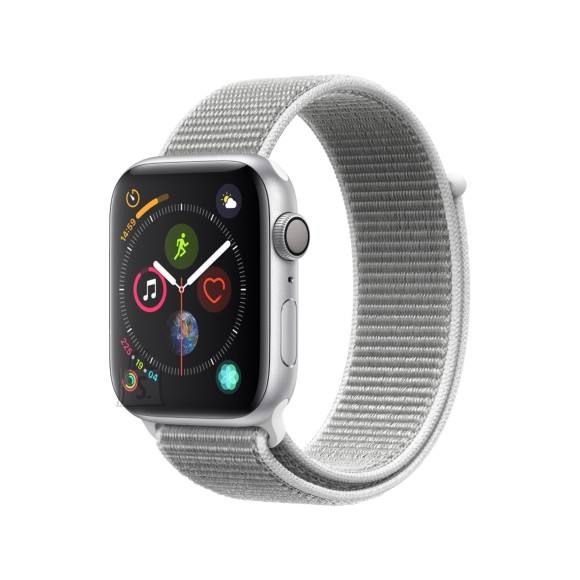 Apple Apple Watch Series 4 GPS, 44mm Silver Aluminium Case with Seashell Sport Loop
