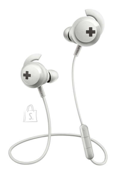Philips PHILIPS BASS+ Wireless Bluetooth In-ear headphones SHB4305WT/00 12.2mm drivers/closed-back, sound isolation, 6 hours of playtime, White