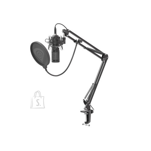 Genesis Radium 400 Black+ Pop-Filter + Shock-Mount + Adjustable Arm + Wind-Screen