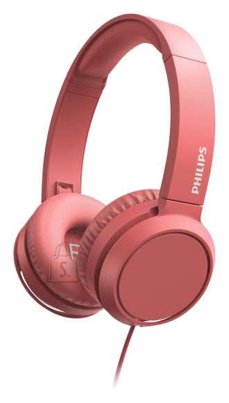 Philips PHILIPS On-Ear Headphones with microphone TAH4105RD/00 32mm drivers/closed-back, Compact folding, Red