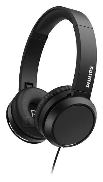 Philips Philips On-Ear Headphones with microphone TAH4105BK/00 32mm drivers/closed-back, Compact folding, Black
