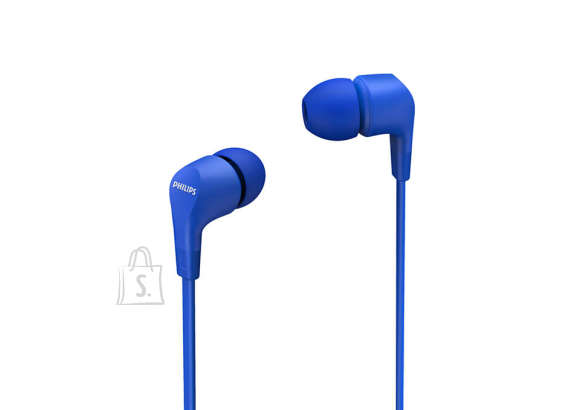 Philips Philips In-Ear Headphones with mic TAE1105BL/00 powerful 8.6mm drivers, Blue