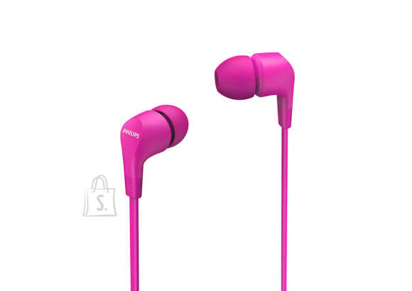Philips Philips In-Ear Headphones with mic TAE1105PK/00 powerful 8.6mm drivers, Pink