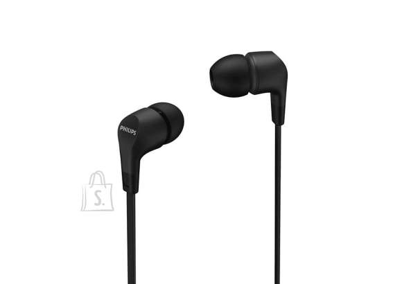 Philips Philips In-Ear Headphones with mic TAE1105BK/00 powerful 8.6mm drivers, Black