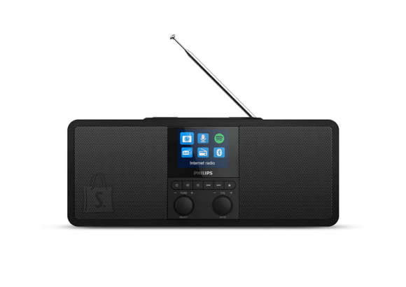 Philips Philips Internet radio TAR8805/10 Spotify Connect, DAB+ radio, DAB and FM Bluetooth, 6W, wireless Qi charging, color display, built-in clock function, AC powered