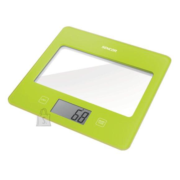 Sencor Värviline köögikaal SKS5021GR klaaspinnaga Sencor roheline