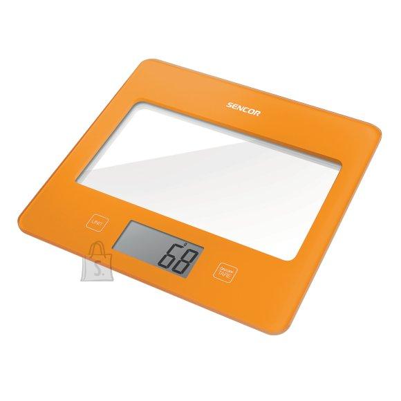 Sencor Värviline köögikaal klaaspinnaga Sencor SKS5023OR oranz