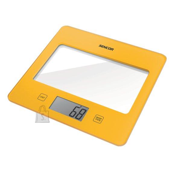 Sencor Värviline köögikaal klaaspinnaga Sencor kollane SKS5026YL