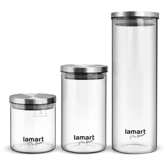 Lamart Klaasist säilituspurkide komplekt Lamart LT6025 3tk