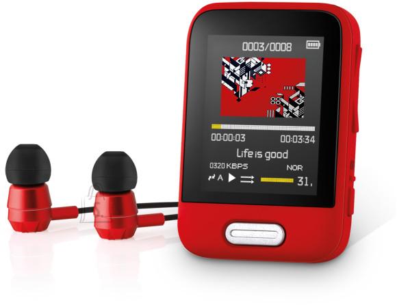 Sencor Mp3/MP4  mängija Sencor  SFP7716RD, punane