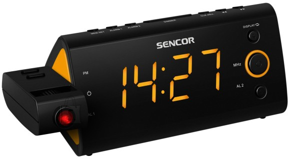 """Sencor Digitaalne display kella ja sagedusega<div>Aasta/ kuu/ kuup??ev</div><div>LED ekraan??1,2 """"(3 cm)</div><div>180?? p????ramine fookuse reguleerimisega</div><div>PLL FM raadio</div><div>Sisetemperatuuri n??idik</div><div>2 ??ratust v??ljal??litusega n??dalal??puks</div><div>??ratus raadio v??i helinaga</div><div>Tukastusfunktsioon</div><div>Unetaimer</div><div>Reguleeritava eredusega ekraan</div><div>Varutoide patareidega (patareid ei kuulu komplekti)</div><div>Vooluv??rgu toide??230V 50Hz</div><div><div>M????dud: 188 x 82 x 72 mm</div><div>Kaal: 420 g</div></div><br /> <br /><br /><br /> Toote kaal: <strong>0.42 Kg</strong><br />"""