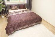 Dossa bambus voodipesukomplekt Kahve - 5 suurust