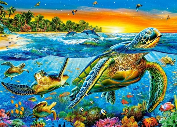 Castorland Puzzle 180 Underwater Turtles 18321