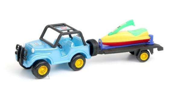 1342. Jeep käruga + skuuter