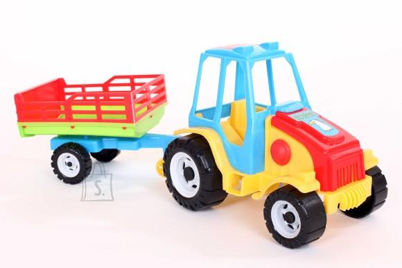 Traktor+võrega käru 0156