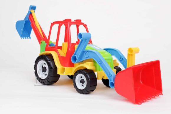 0155. Traktor kopa ja sahaga