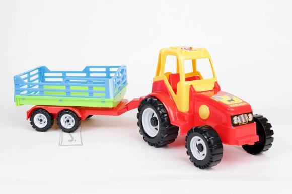 Traktor + võrega käru 0161