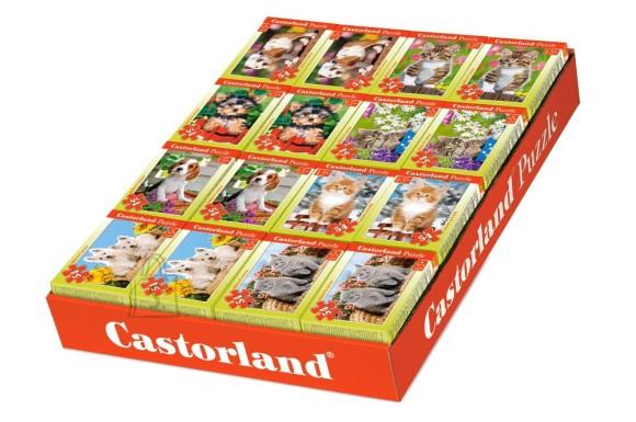 Castorland Puzzle 54 B mini. Koerad, kassid