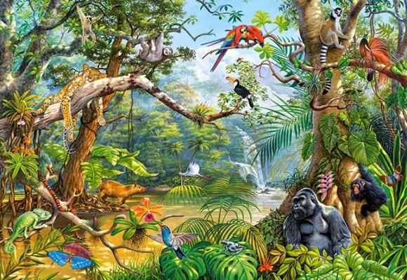 Castorland 200375. Puzzle 2000 Life hidden in Jungle