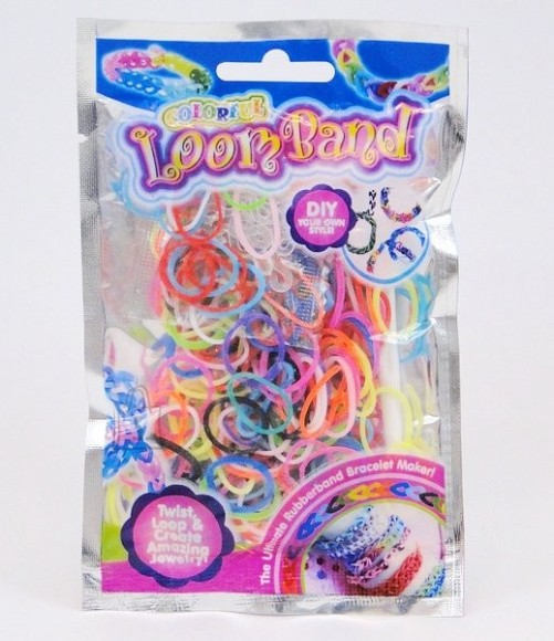 HEEGELDUS - PUNUMISKUMMID 300tk LOOM BAND COLORFUL  8477