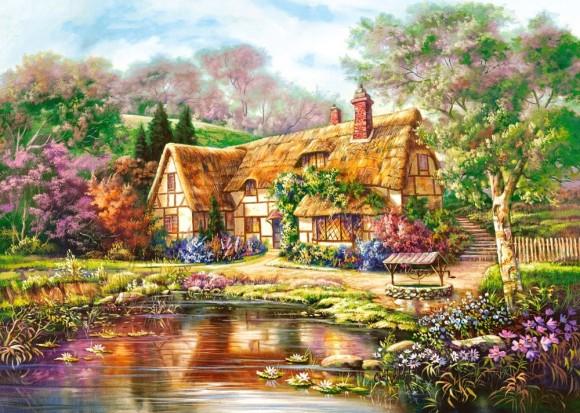 Castorland Puzzle 3000 Twilight at Woodgreen Pond 300365