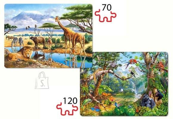 Castorland 021031. Puzzle 2 pilti (70+120) Savanna and Jungle