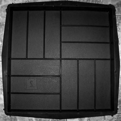 72/13 PLASTVORM PLAAT  50x50x5cm (parkett krobeline)
