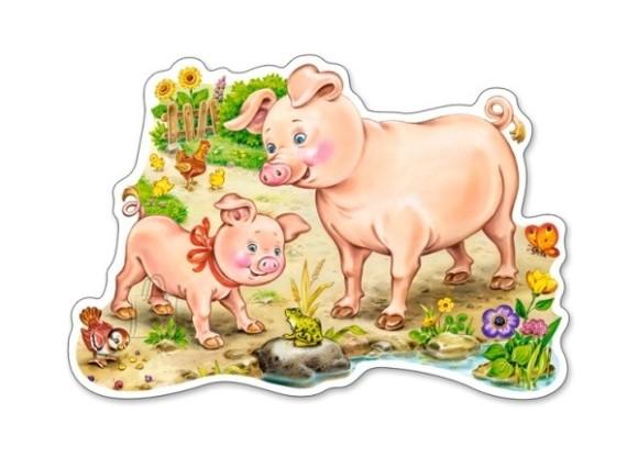 Castorland Puzzle 15 A Piggy with Mom 015016