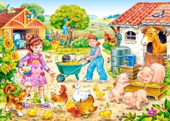 Castorland 035076. Puzzle 35 Farm