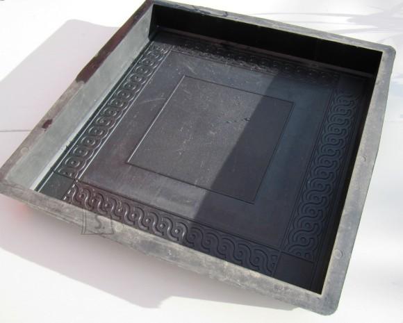 72/15 PLASTVORM PLAAT  40x40x5cm (ornam.ruut keskel)
