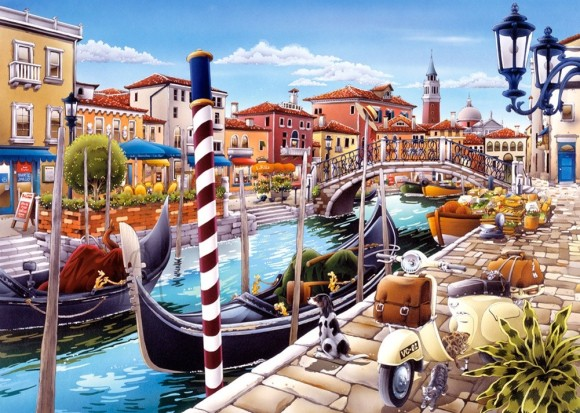 Castorland 103058. Puzzle 1000 Venetian Canal in Italy