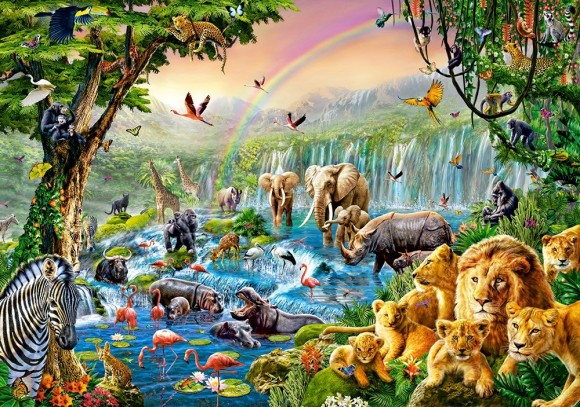 Castorland Puzzle 500 Jungle River 52141