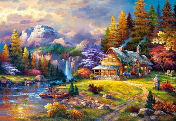 Castorland Puzzle 1500 Mountain Hideaway 151462