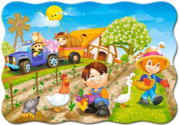 Castorland Puzzle 30 A DAY ON THER FARM 03563