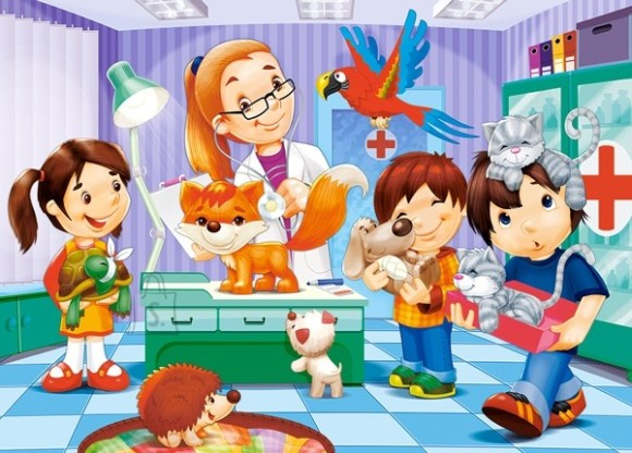 Castorland Puzzle 60 AT THE ANIMAL DOCTOR 06847