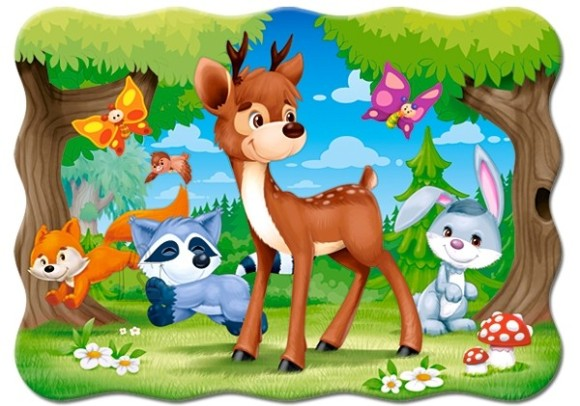 Castorland Puzzle 30 A Deer and Friends 03570