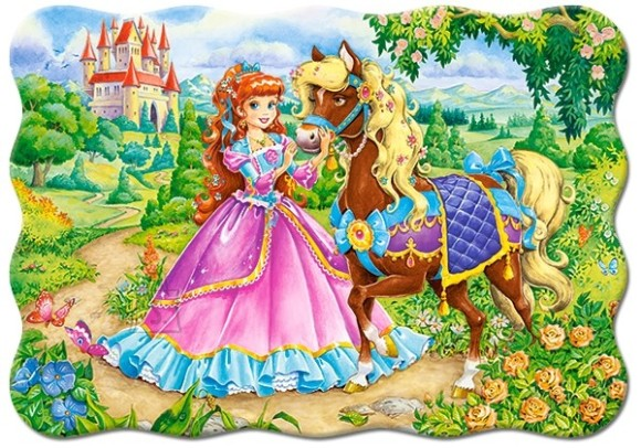 Castorland Puzzle 30 Princess and her Horse 03617